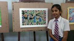 Workshop on Madhubani Painting at Birla Science Centre